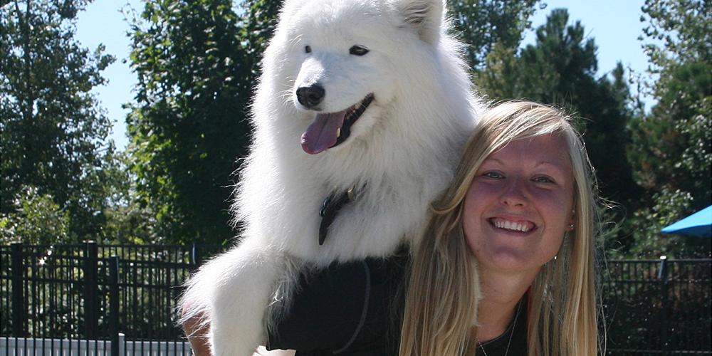 employee & dog